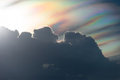Sunset with rainbow cloud Royalty Free Stock Photo