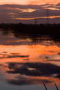 Sunset reflection in the lake Royalty Free Stock Photo