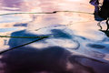 Sunset Reflections On Sea Water Royalty Free Stock Photo