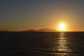 Sunset on the res sea seain sharm el sheikh in egypt Stock Photo