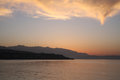 Sunset in Rethymnon, Crete, Greece Stock Images
