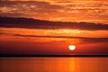 Západ slnka v island
