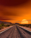 Sunset Road Royalty Free Stock Photo