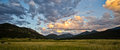 Sunset at rocky mountain national park in colorado moraine Royalty Free Stock Photography