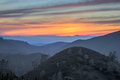 Sunset of Rolling Hills. Mt Diablo State Park, California, USA. Royalty Free Stock Photo