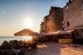Sunset in Rovinj, Croatia Royalty Free Stock Photo