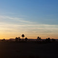 Sunset in sahara desert morocco erg chebbi Royalty Free Stock Photography