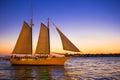Sunset Sail Key West Florida Royalty Free Stock Photo