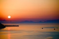 Sunset in Santorini Stock Photography