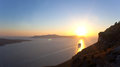 Sunset in Santorini island - Greece Royalty Free Stock Image