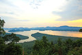Sunset at scenic point of Khao Fha Chee Royalty Free Stock Photo