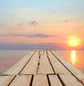 Sunset at the sea beautiful Royalty Free Stock Images