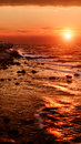Sunset on the sea crimea black sea season specific Stock Photography