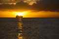 Sunset at sea saipan island Royalty Free Stock Images