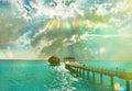 Sunset On The Sea. Summer Holi...