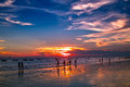 Sunset on the sea at weizhou island weizhou island is one of most beautiful islands in china Royalty Free Stock Images