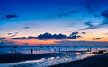 Sunset on the sea at weizhou island weizhou island is one of most beautiful islands in china Royalty Free Stock Photography