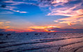 Sunset on the sea at weizhou island weizhou island is one of most beautiful islands in china Stock Photography