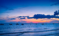 Sunset on the sea at weizhou island weizhou island is one of most beautiful islands in china Stock Image