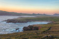 Sunset seascape in dingle peninsula at slea head ireland Royalty Free Stock Photo