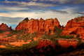 Sunset in Sedona Stock Image