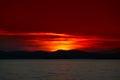 Sunset in sithonia chalkidiki greece beautiful Royalty Free Stock Photos