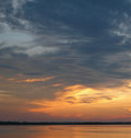 Sunset sky in the amazon over rio negro river basin brazil south america Royalty Free Stock Images