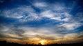 Sunset sky beautifully embellished eventide Royalty Free Stock Image