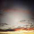 Sunset sky bright colors in Royalty Free Stock Image