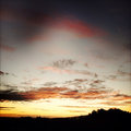 Sunset sky bright colors in Royalty Free Stock Photography