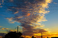 Sunset sky with clouds dramatic, summer Royalty Free Stock Photo