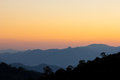 Sunset sky of mountain view at chiang dao thailand north Royalty Free Stock Images