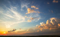 Sunset sky with multicolor clouds Royalty Free Stock Photos
