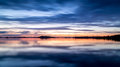 Sunset sky and water reflection Royalty Free Stock Photo