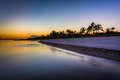 Sunset at Smathers Beach, Key West, Florida. Royalty Free Stock Photo