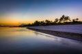 Sunset at Smathers Beach, Key West, Florida. Royalty Free Stock Photo