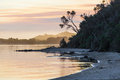 Sunset at Snowy River Estuary, Victoria, Australia Royalty Free Stock Photo