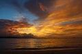 Sunset in sosua dominican republic Stock Photo