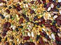 Background of dry lentil soup mix Royalty Free Stock Photo