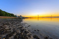 Sunset in south queensferry at the firth of forth scotland Stock Images