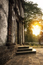 Sunset st catherine chapel old goa india Royalty Free Stock Photography