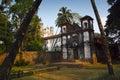 Sunset st catherine chapel old goa india Royalty Free Stock Photography