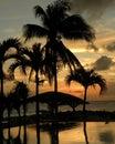 Sunset in St. Maarten Stock Photography