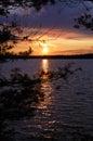 Sunset At Star Lake, WI.