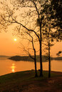 Sunset stunning at viewpoint kanchanaburi Stock Image
