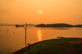 Sunset stunning at viewpoint kanchanaburi Stock Images