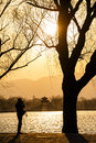 Sunset at summer palace in beijing Royalty Free Stock Photo