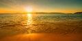 Západ slnka slnečný pláž
