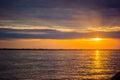 Sunset sunrise at Amazon River Jungle Royalty Free Stock Photo