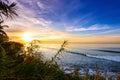 Sunset/sunrise shoreline,punta mita,mexico Royalty Free Stock Photo